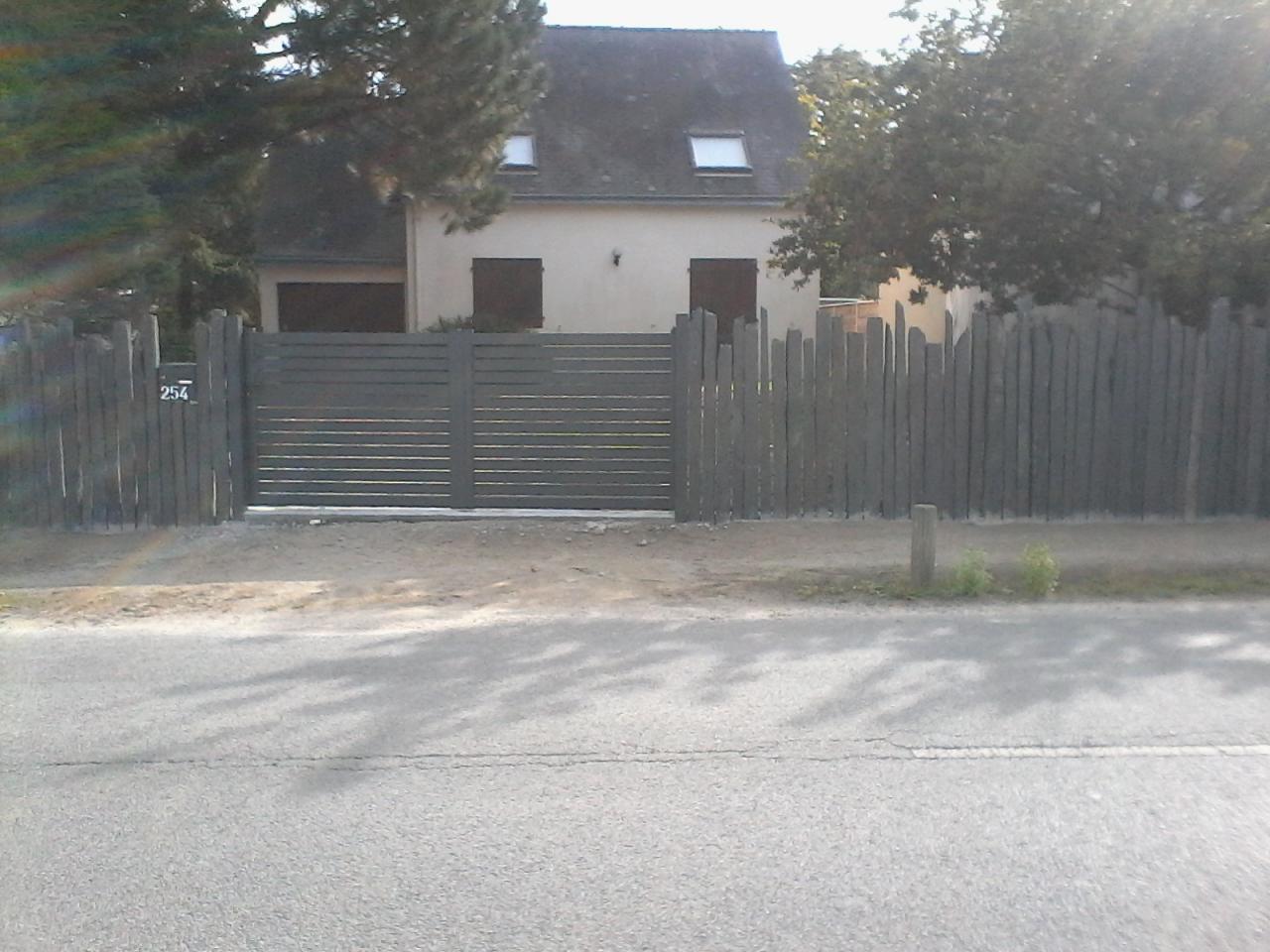 piquet de schiste et portail