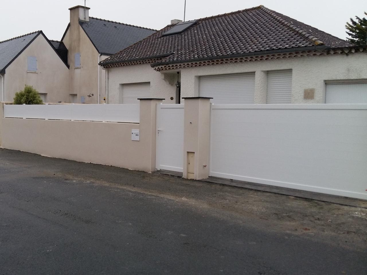 muret clôture et portail alu