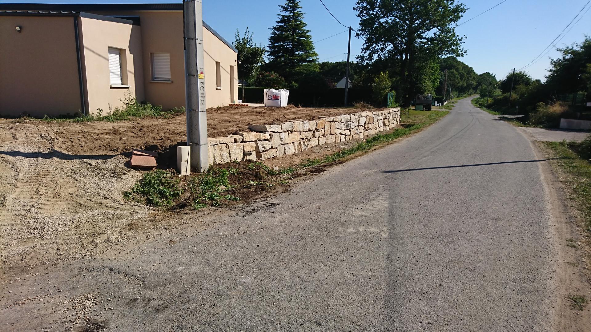 muret en bloc de rocaille
